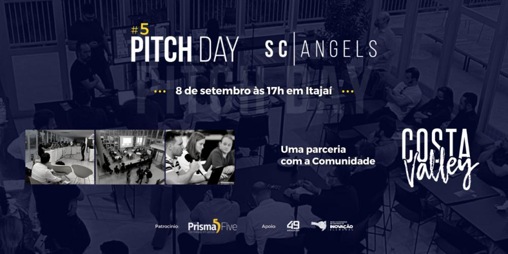 5º Pitch Day SC Angels será em Itajaí, em parceria com a Comunidade Costa Valley