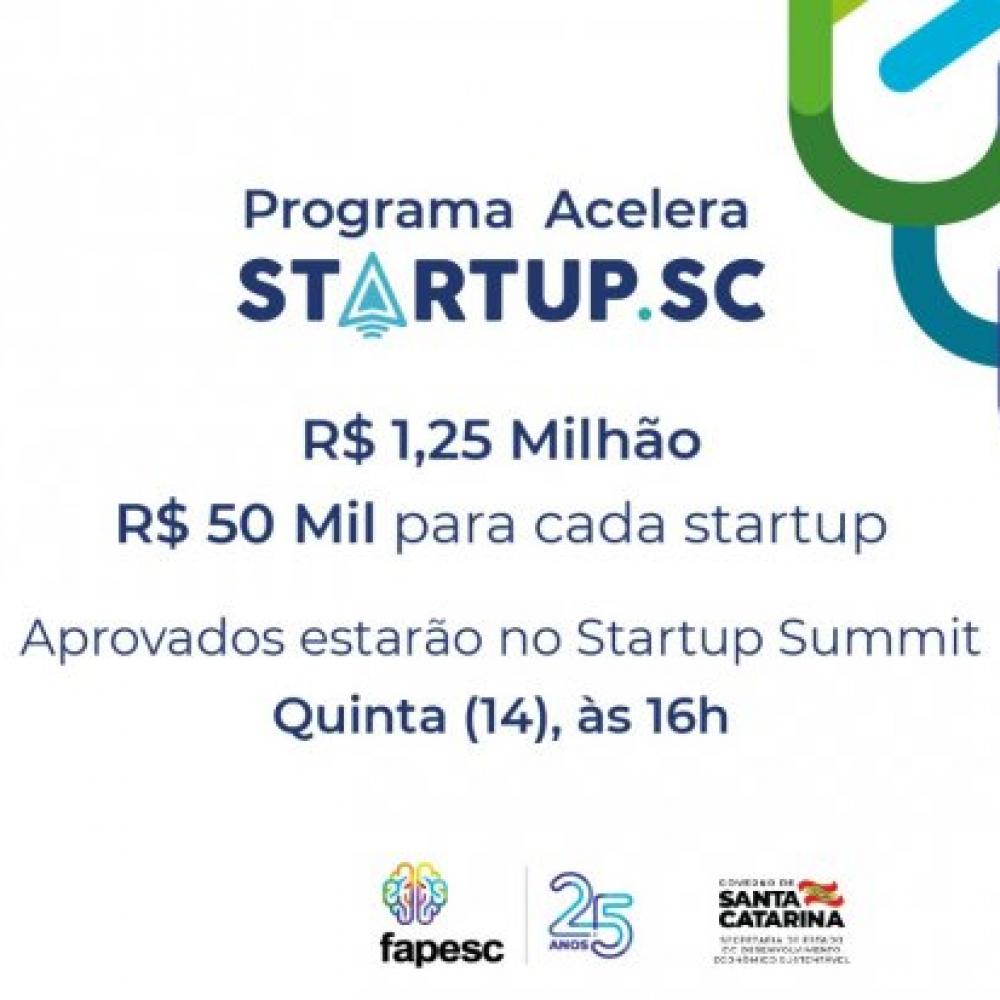 Fapesc e Sebrae apresentam aprovados no Programa Acelera Startup SC